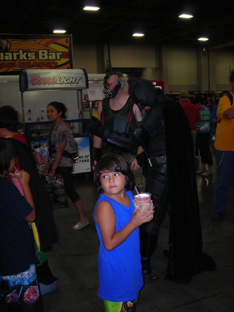 Batman, Bane and child